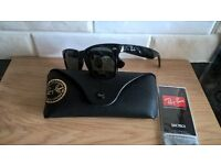 Rayban gloss black wayfarer sunglasses. New in case