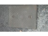Cast Iron Man Hole cover with Frame ***Can deliver***