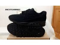 nike air max 90 hyperfuse suede vt Triple Black all sizes inc delivery paypal x