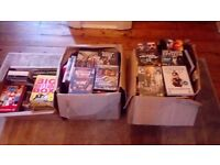 3 boxes of movie dvds