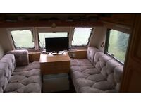 Bargain 6 berth Twin axle Jubilee Statesman with fixed bunk beds and awning, viewing from 30 July