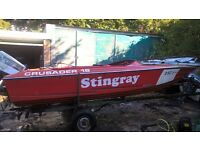 Speed boat 16ft fibreglass with trailer and 115hp outboard