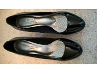 Black Patent Leather Shoes by M&S