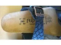 Birkenstock Papillio Alicia brown wedge mules brand new in box size 37