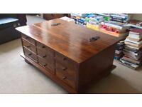 Laura Ashley Garratt Chestnut 9-Drawer Coffee Table