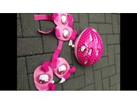Hello kitty helmet and pads