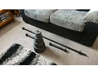 50kg Opti Cast Iron Barbell/ Dumbells Weight Set