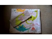 Dinosaur quilt cover and pillow case