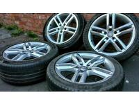 """18"""" GENUINE AUDI alloy wheels with tyres fits tt rs A3 A4 a5 vw golf bbs S Line"""