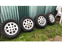 Ford sierra xr4i/ghia alloy wheels old rare £30 take the set bargain