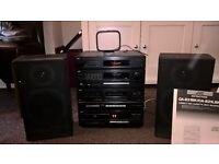 JVC CD Player/Twin Cassette Deck/AM/FM Radio