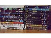 Collection of various DVD box sets plus Lord of the Rings ,Harry Potter and various childrens discs