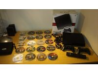 PS3 Slim - 500 GB 2 Controllers Blu Ray Remote and 21 Games - Excellent Condition