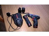 bosch 10.8 drill / drver ,torch,4 batteries