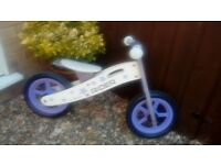Balance bike white and purple