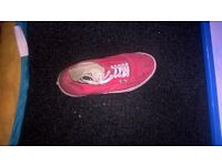 pinky/ red colour vans