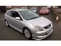 2004 54 REG HONDA CIVIC TYPE S £895 BARGAIN PX WELCOME