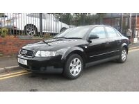 2002 Audi A4 1.9 TDI 4dr Saloon, Black, Ideal family car, nice clean car, £1,295 p/x welcome