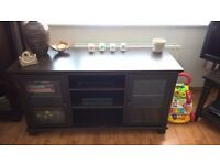 Collection of Coordinated Ikea Living Room Furniture (6 items) - dark brown, well-loved