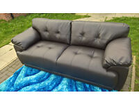 Ex-display Sienna 3 Seater Brown Leather Sofa.