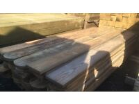 Round top fence boards