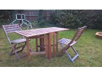 IKEA applaro outdoor table and 2 chairs