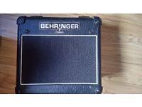 Selling a Behringer Vintager AC 108 15 WATT Amp + 2 venom professional noiseless cables