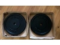 York Fitness Standard Cast Iron Disc Weights - 2 x 10 kg