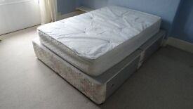 King size bed base with 4 spacious drawers. Also double mattress