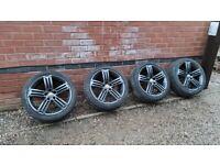 "Genuine Volkswagen Talladega 18"" Alloy Wheels 5x112 VW Golf Sirocco 1K8601025F"