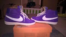 Purple nike blazers size 6