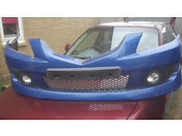 mazda premacy front bumper with spot lamps