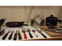 Silverware Set (dinner service, plates, glasses, dinnerware, flatware)