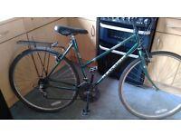 """Raleigh pioneer 20""""framed womans bike 10 gear 700c"""