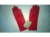 John Lewis brand new Ladies red leather gloves