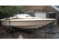 Speed boat quick sale 21ft needs attention Fletcher arrow bolt