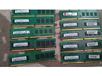 Ram joblot 1 gb , 512mb DDR3 DDR2 unbuffered and server memories!!