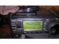 icom 706 mk11 hf/vhf transciever