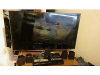 samsung 47 inch 3d tv with 3d dvd player surround sound