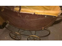 old pram from 1910 toy or shabby chic use