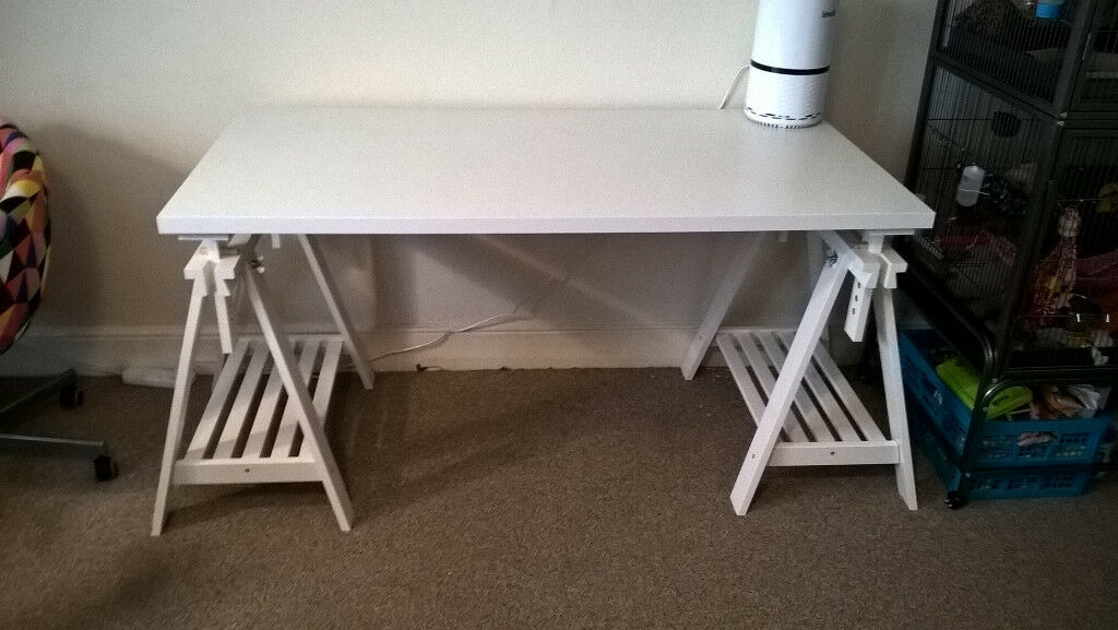 Ikea Finnvard Linnmon Adjule Height Trestle Table