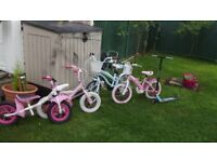Selection of Childrens' Bikes