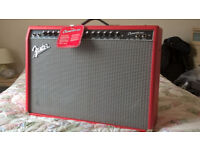 Fender Champion 100. Limited Edition Red model with footswitch.