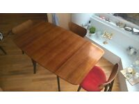 G-PLAN folding dining table with chairs - vintage!
