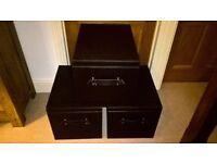 3 x storage boxes