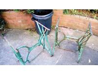 Old Sewing machine table frames