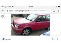 Nissan micra 2002 red 32000 mileage bargain £450