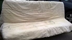 Sofa bed/futon style with sprung mattress