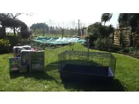 Guinea pig cage/outdoor play pen and accesories