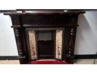 Fire surround and matching mirror